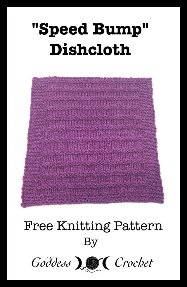 Speed Bump Dishcloth - Free Knitting Pattern