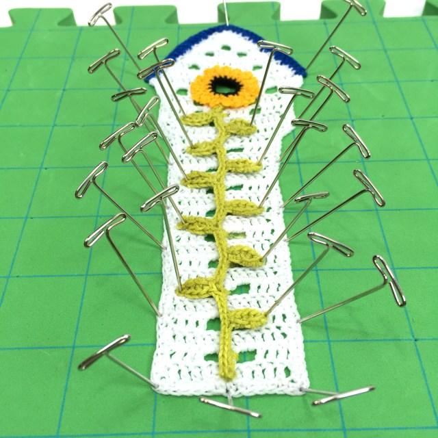 Sunflower Crochet Bookmark