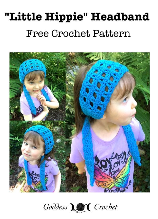 Little Hippie Headband Free Crochet Pattern Goddess Crochet