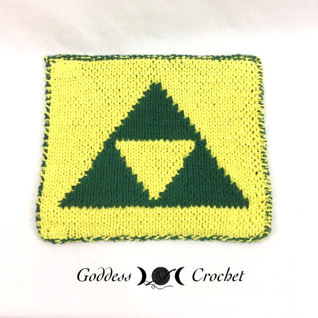 Triforce Dishcloth - Free Knitting Pattern Review