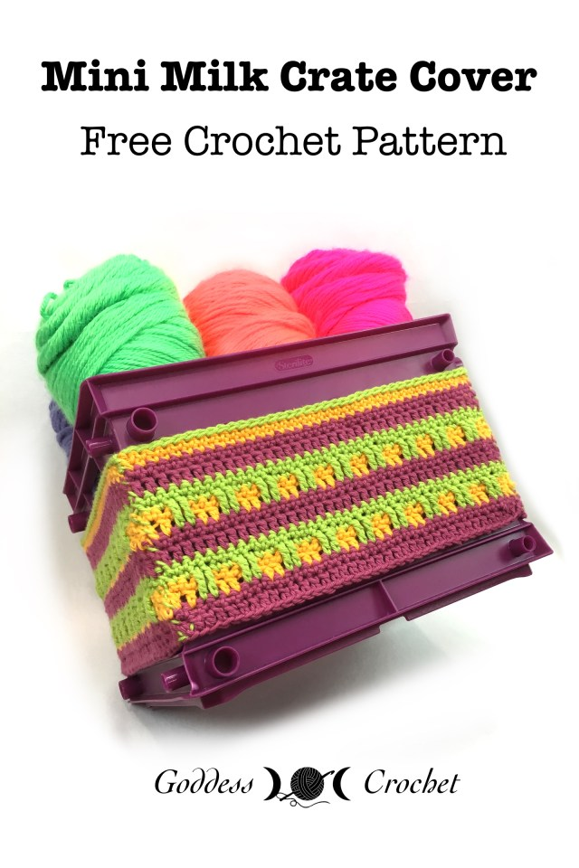 Mini Milk Crate Cover - Free Crochet Pattern