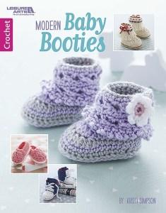 Modern Baby Booties - Crochet Pattern Book by Leisure Arts