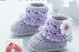 Modern Baby Booties - Crochet Pattern Book by Leisure Arts