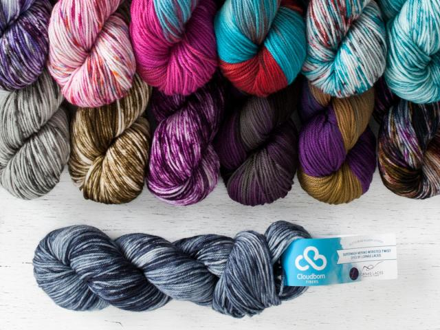 Cloudborn Worsted Weight Yarn - Dyed by Lorna's Laces