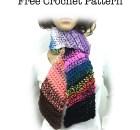 Scrappy Bias Scarf - Free Crochet Pattern