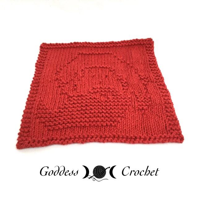 Santa Claus Knit Dishcloth