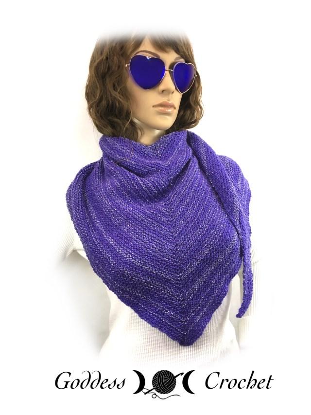 Asymmetrical Shawl Free Knitting Pattern Review Goddess Crochet