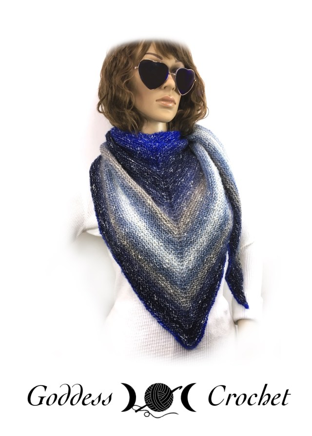 Asymmetrical Shawl Free Knitting Pattern Review Goddess Crochet