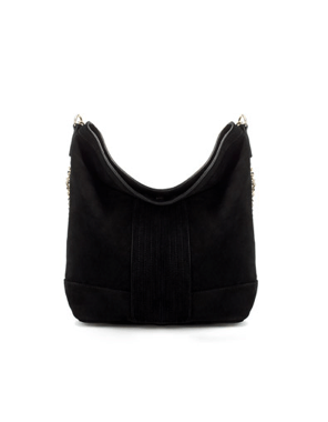 Leather bucket bag with chain handle, Zara 79.95 Euro