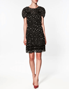 Star Print dress at Zara, Eur 69.95