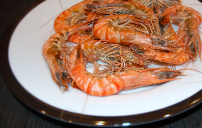 Spiced Sweet King Prawns