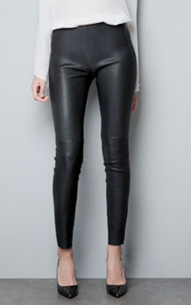STRETCH LEATHER TROUSERS  279.00 EUR by Zara