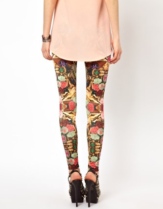 Swap your jeans for print leggings - Ginger Fizz Leggings In Cherub Print €33.34