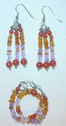 Beauty Earrings and Bracelet