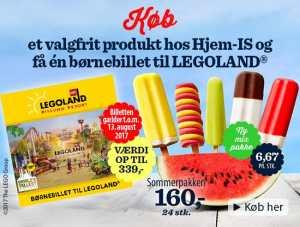 Legoland hjemis gratis bornebillet