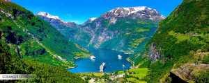 geirangerfjord i oppustelig kajak