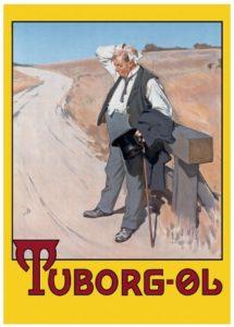 Tuborg plakat den toerstige mand