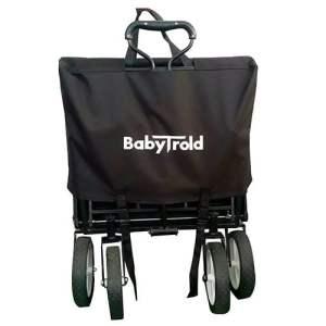 babytrold-traekvogn-sort-med-aftageligt-tag-bagagekurv-og-justerbart-styr