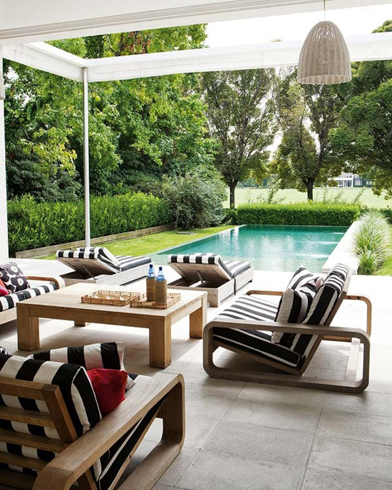 21 Black And White Outdoor Space Inspirations - Godfather ... on Black And White Backyard Decor  id=75948