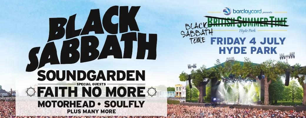 British Summer Time Presents: Black Sabbath at Hyde Park