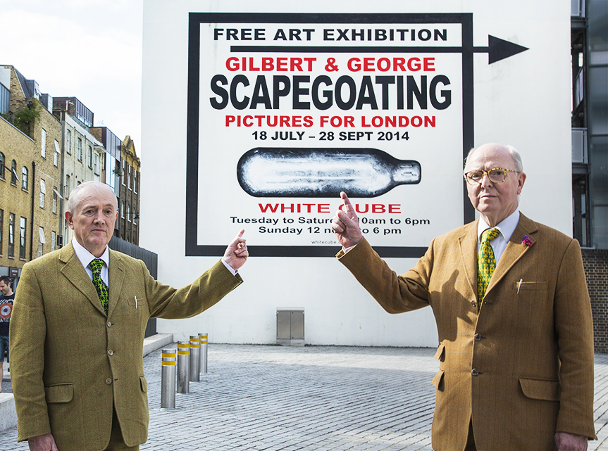REVIEW : Gilbert & George – Scapegoating Pictures For London