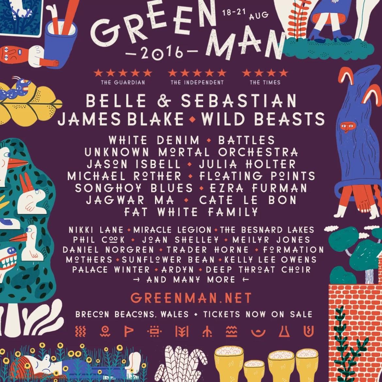 NEWS:  Belle & Sebastian, James Blake and Wild Beasts to headline Green Man 2016