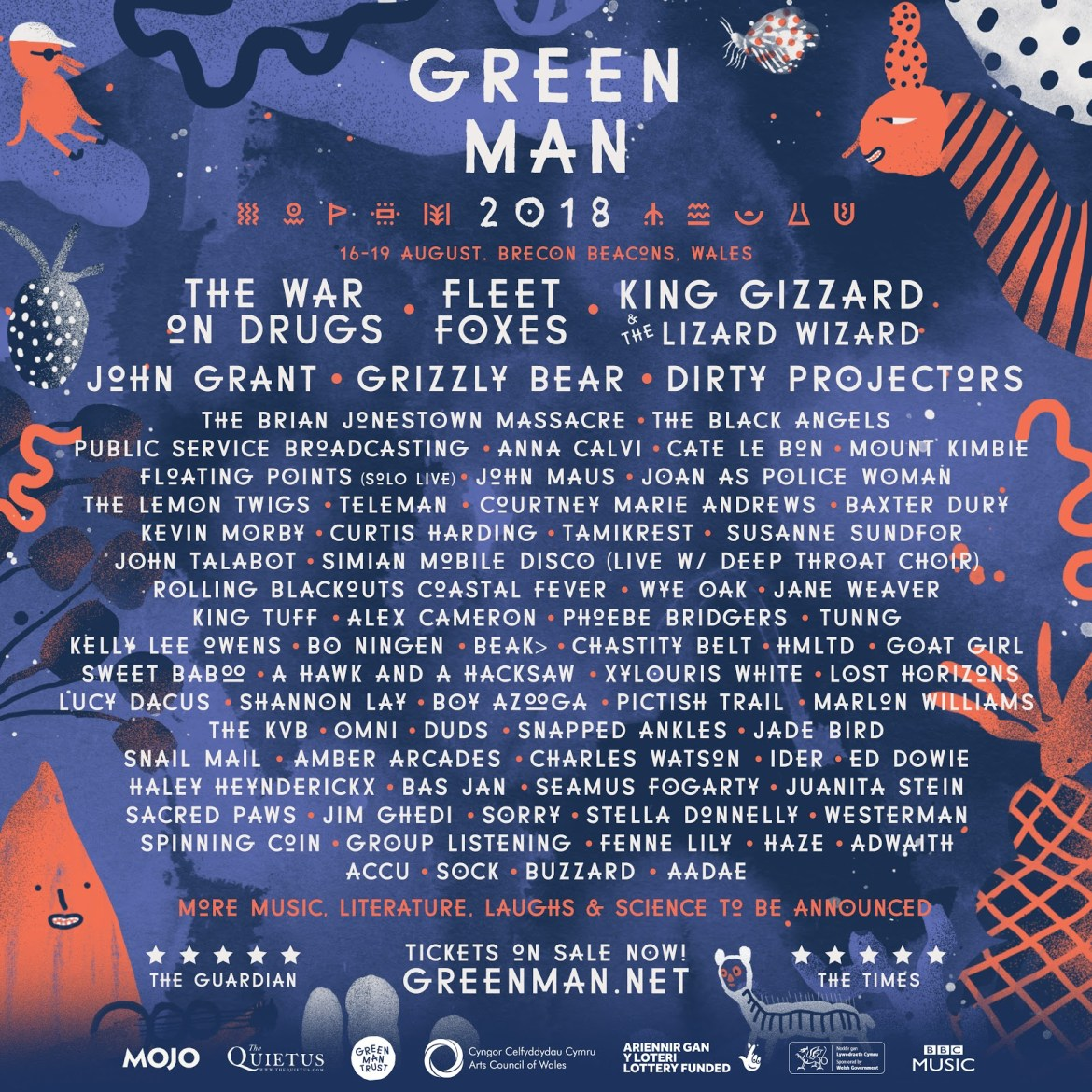 NEWS: King Gizzard and the Lizard Wizard, Cate Le Bon, Anna Calvi, Floating Points amongst second wave of names for Green Man