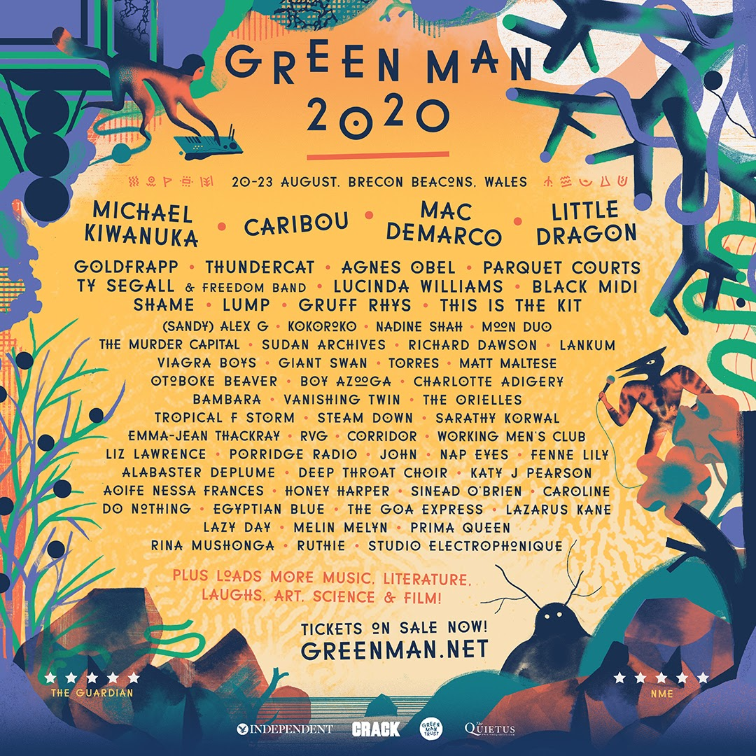 NEWS: Michael Kiwanuka, Caribou, Little Dragon & Mac DeMarco headline Green Man Festival 2020