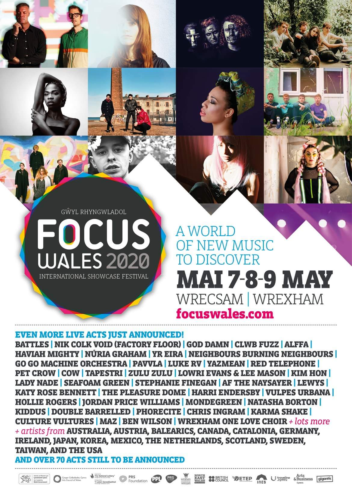 NEWS: Battles, Nik Colk Void(Factory Floor), God Damn,  Neighbours Burning Neighbours and Clwb Fuzz amongst next wave of acts for Focus Wales 2020