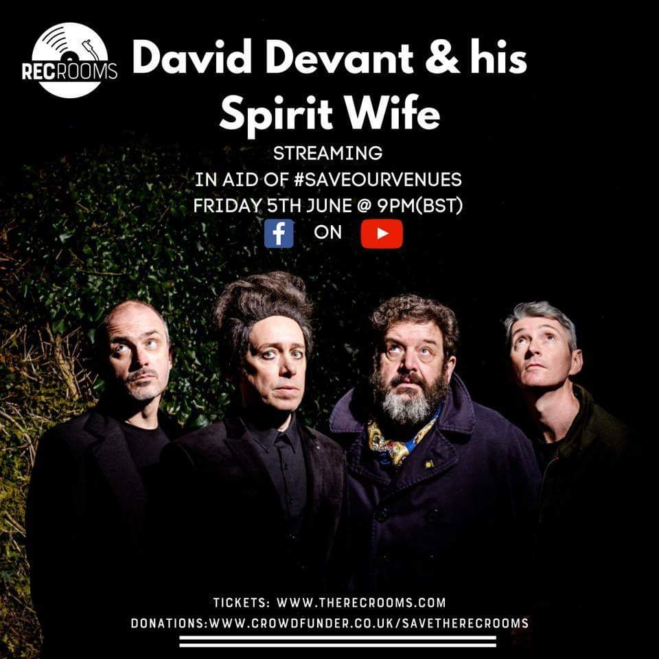NEWS: David Devant & His Spirit Wife stage #saveourvenues fundraiser
