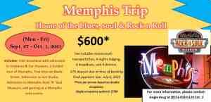 Mephis Trip: Sept. 27 - Oct. 1, 2021