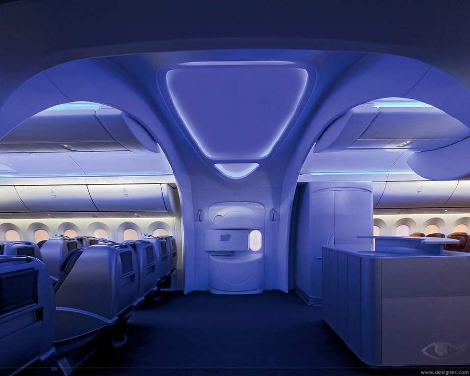 787 mood lighting.