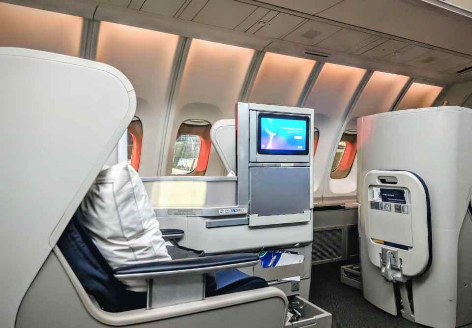 British Airways Club World Upper Deck Seat
