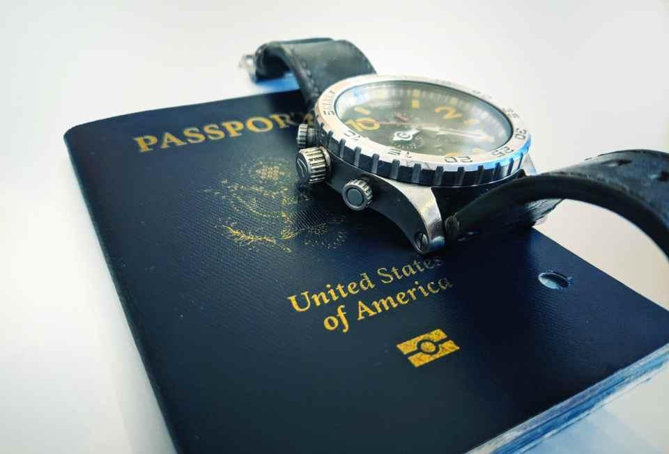 Travel time watch passport