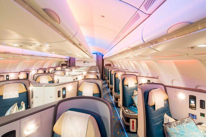 SriLankan Airways Business Class Cabin