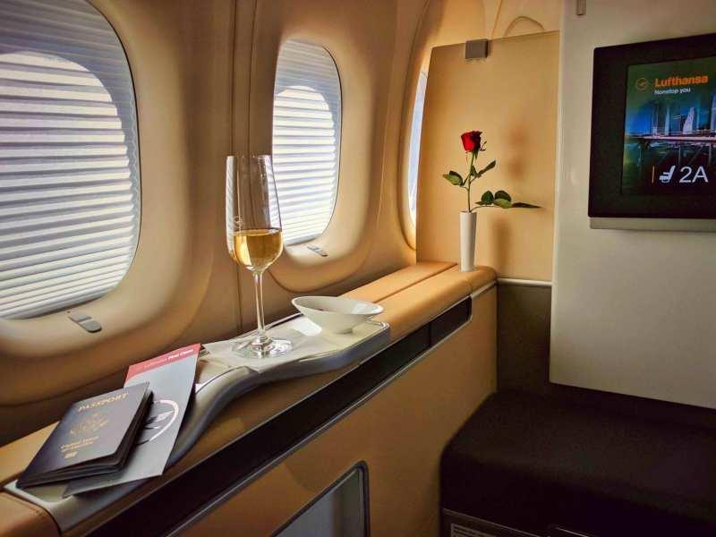Lufthansa First Class Champagne