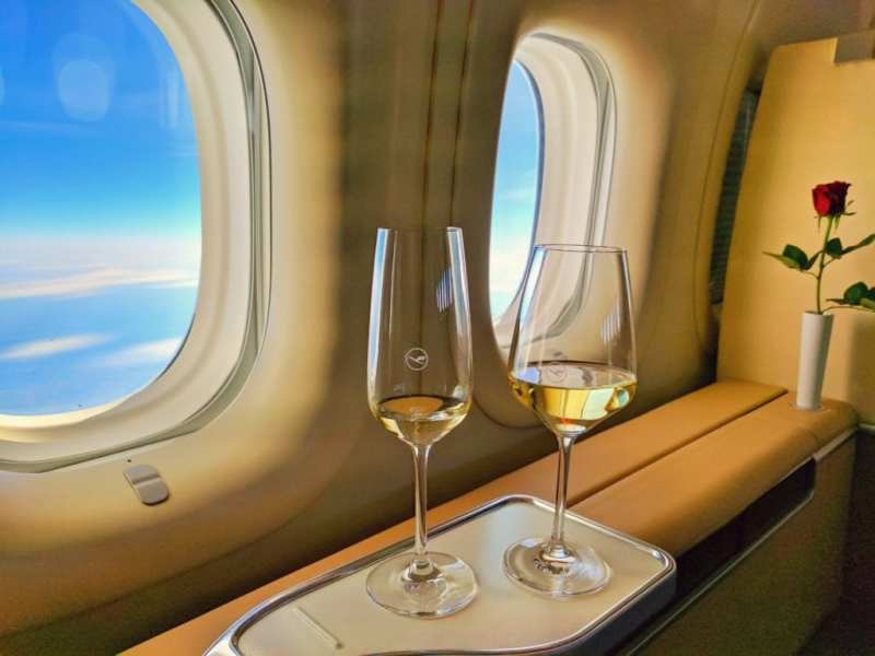 Lufthansa First Class Wine And Champagne