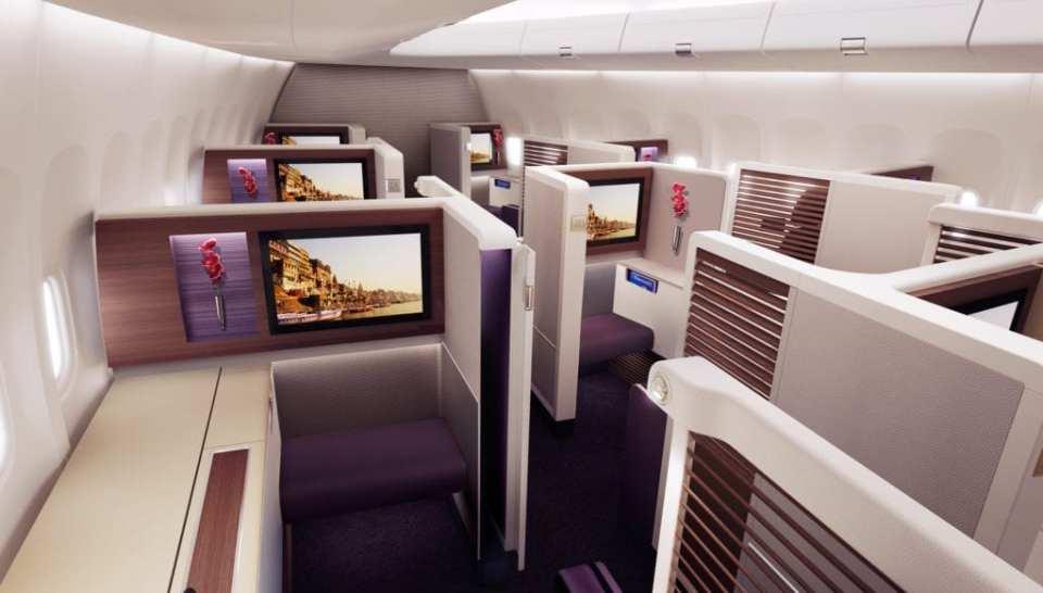 Thai Airways First Class Cabin