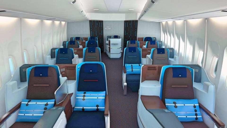 KLM Business Class Cabin