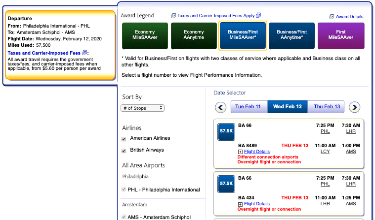 Old American Airlines Search Results