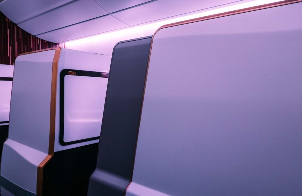virgin atlantic a350 business class door