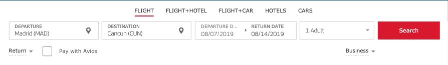 Iberia Flight Search