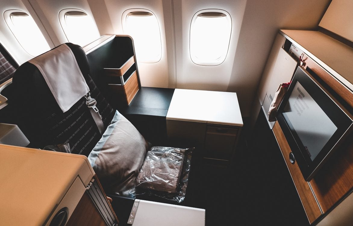 Swiss Business Class Throne Seat Boeing 777
