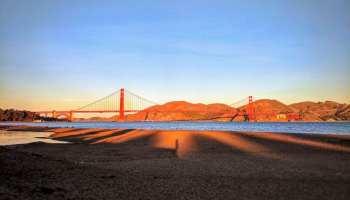 sunset crissy field beach san francisco