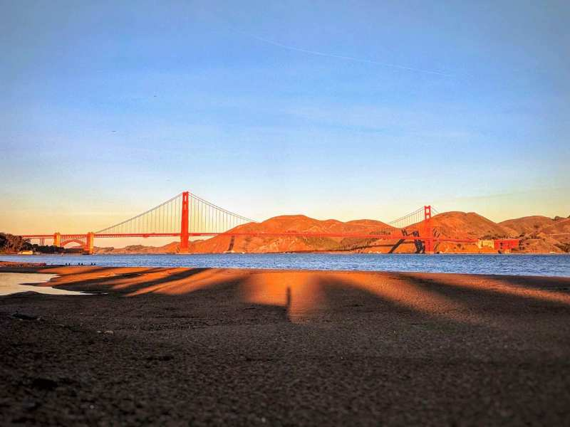 sunset crissy field beach san francisco