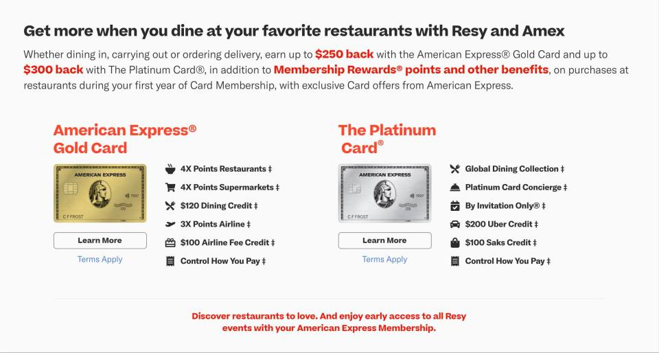 Amex Adds Up To 300 In Tasty Extra Dining Credits To New Card Offers
