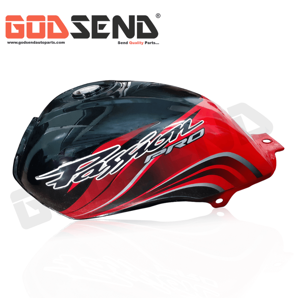 GodSend® Fuel Tank for Passion Pro Petrol Tank Black Red Co...