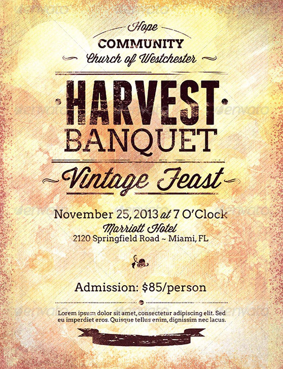 Harvest Thanksgiving Flyer