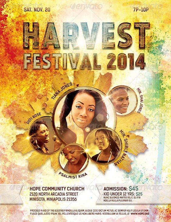 Harvest Thanksgiving Flyer