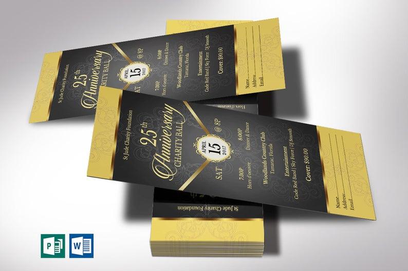 Black Gold Anniversary Banquet Ticket